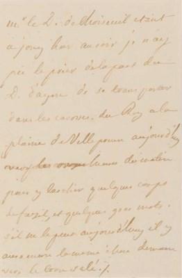LOUIS XV (1710-1774). Lettre a