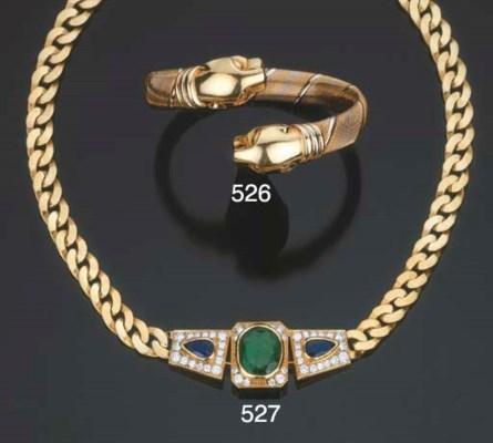 Collana in oro con smeraldo, z