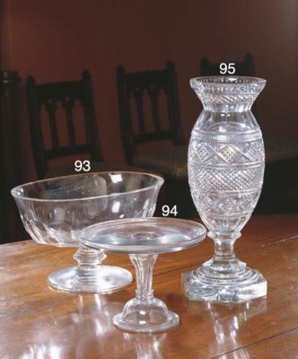 A GEORGE III GLASS TAZZA
