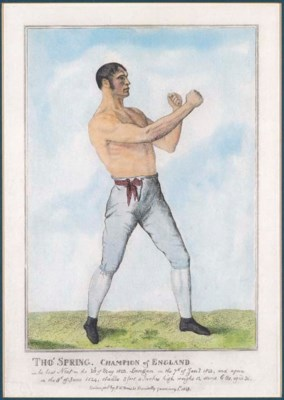FOUR PRINTS OF PUGILISTIC SUBJ