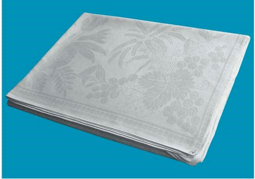A damask linnen tablecloth