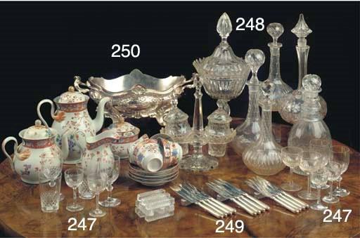 (21)  A VÔNECHE CUT-GLASS GING