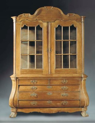A Dutch oak display cabinet