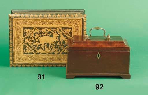 An English mahogany teacaddy