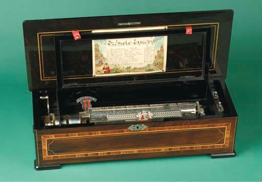 A Swiss cylinder music box TRE