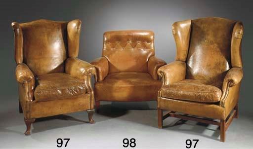 A leather armchair