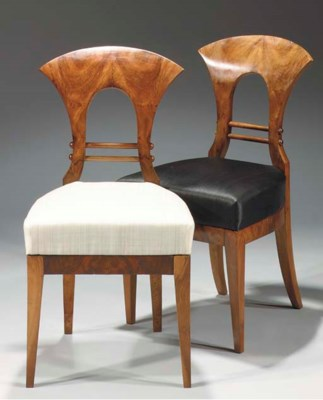(2)   A pair of Biedermeier wa