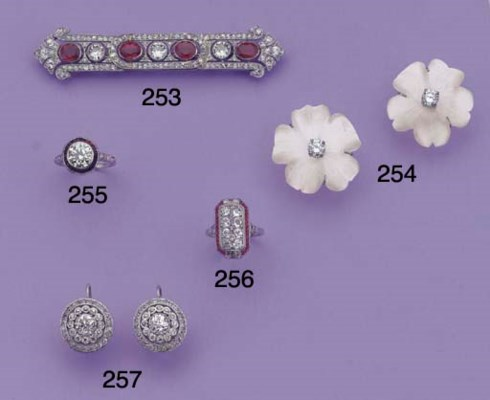 (2)  A PAIR OF DIAMOND EARRING