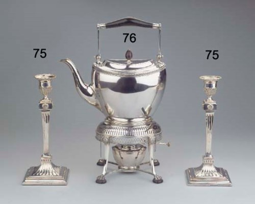 (3)  A Dutch silver tea-kettle