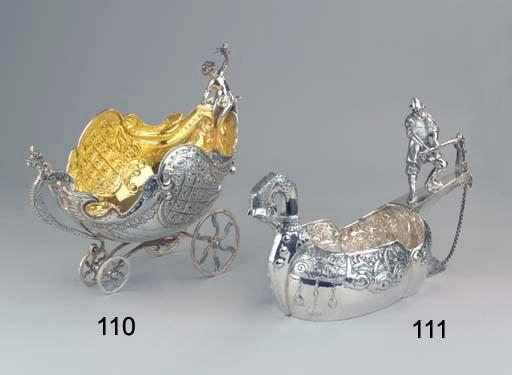 A large silver Kovsh