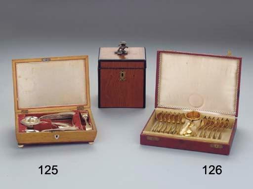 (15)A spoonbox with Dutch silv