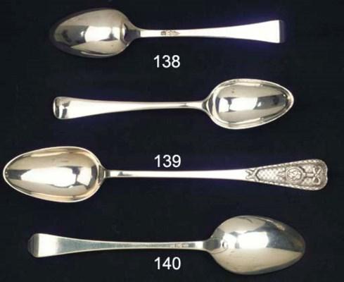 A large Dutch silver spoon