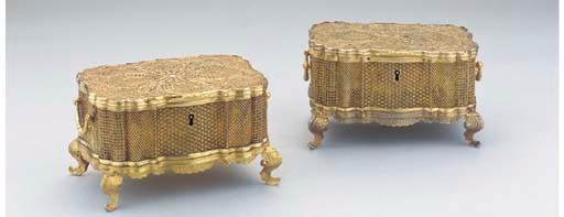 (2)  Two colonial silver-gilt