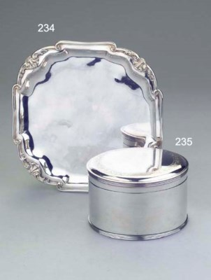 A Dutch silver biscuit-box