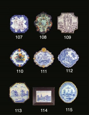 A Dutch Delft polychrome rocai