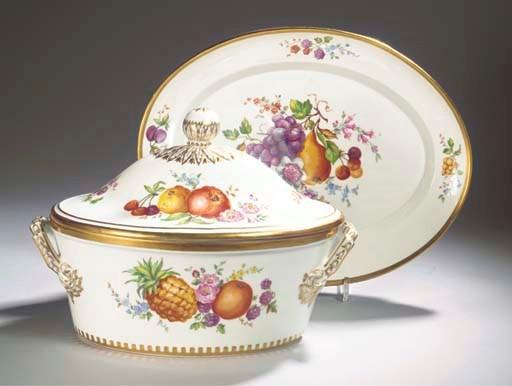 (3)  A Berlin KPM porcelain tw