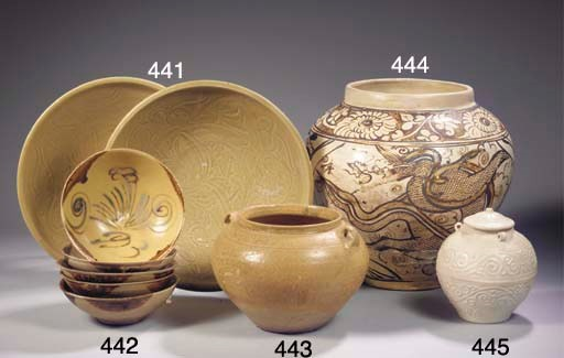 Five Changsha shallow bowls
