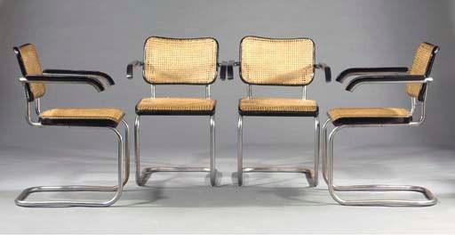 (4) B64, four armchairs