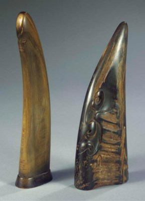 (2) Two horn figures