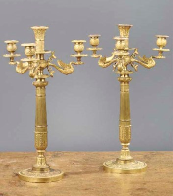 (2) A PAIR OF FRENCH ORMOLU FO