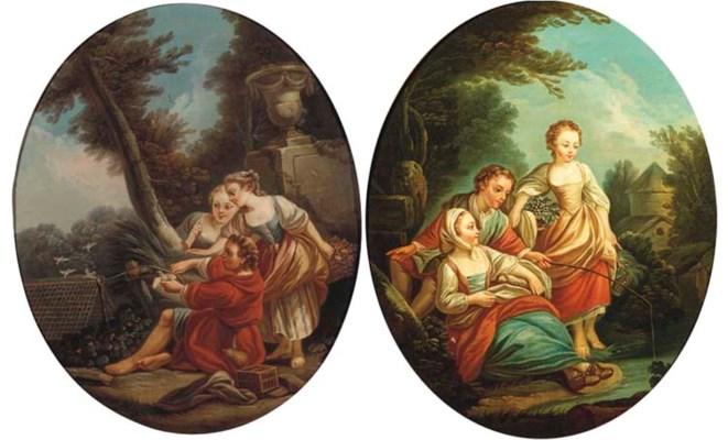 (a pair)  Manner of François B