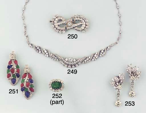 (2) A PAIR OF DIAMOND EARPENDA