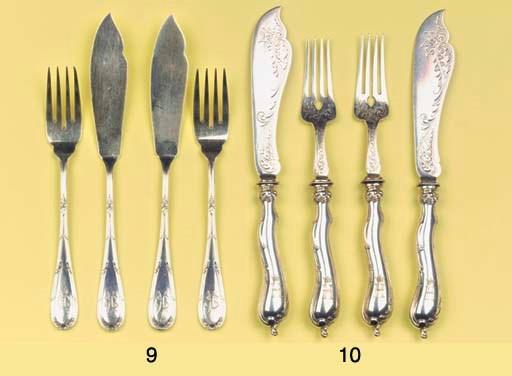 (12) Six German silver fish fo