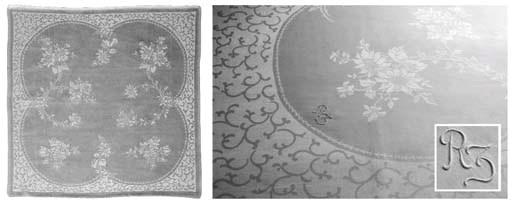 (14) A set of twelve damask li