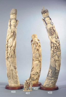 A large Chinese ivory figure o