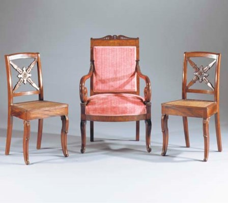 (3)  A PAIR OF RESTAURATION MA