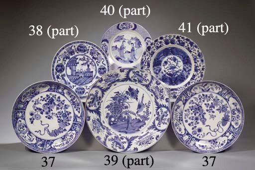 An assorted lot of plates and