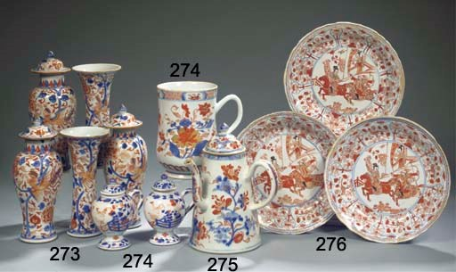 An assorted group of Imari por