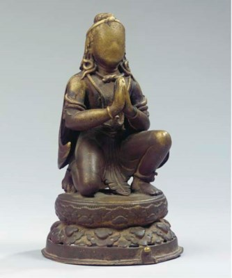 a nepalese copper figure of ga