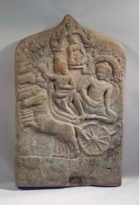 a khmer, bayon style, sandston