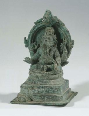 a javanese bronze figure of ga