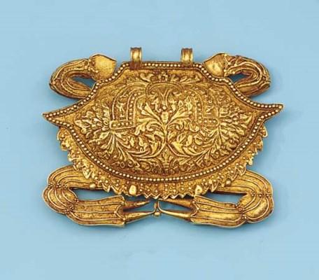 a smaller islands gold metal p