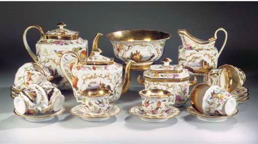 (28) A Brussels porcelain gilt