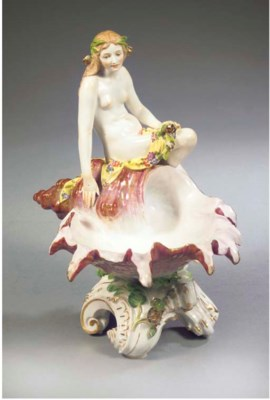 A Meissen porcelain figural sa