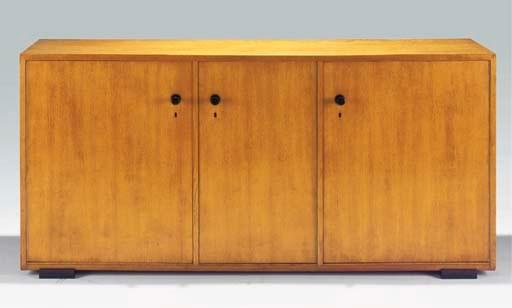 An oak sideboard