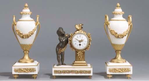 (3)  A Napoleon III ormolu, pa
