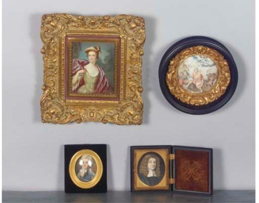 (4)  A portrait miniature of a