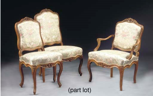 (8) A matched set of Louis XV