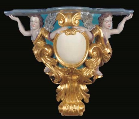 A German polychrome-painted an