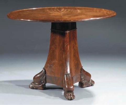 An Empire mahogany centre tabl