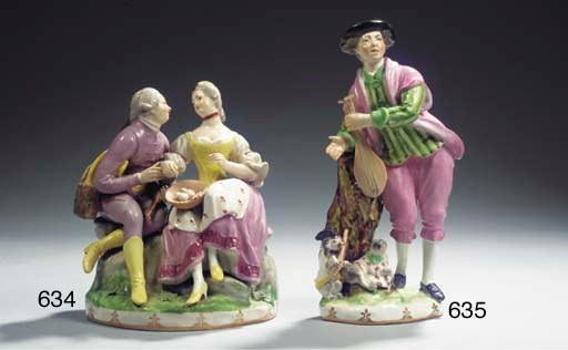 A Vienna porcelain group of a
