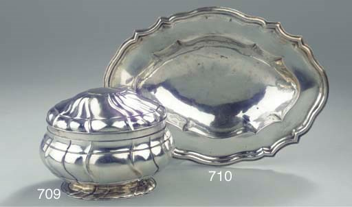 An German silver religous dish