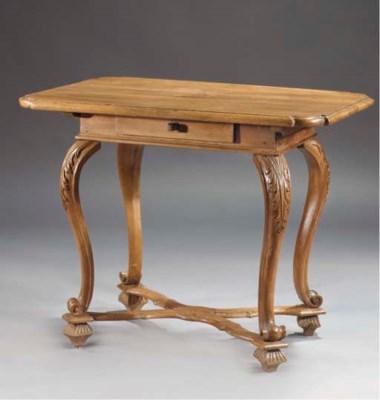 An Austrian walnut table