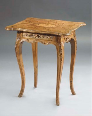 An Austrian walnut, fruitwood
