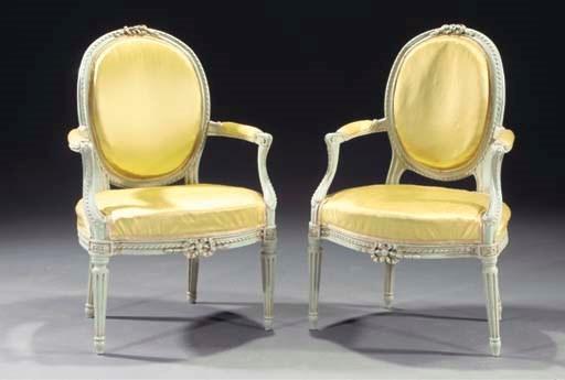 (2) A pair of Louis XVI light