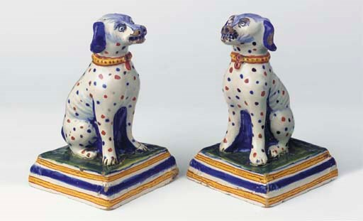 (2) A pair of Dutch Delft poly